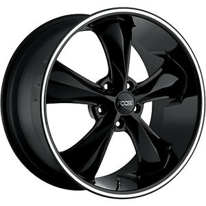 Cust Foose Legend F104 2 17x8 2 2 18x8 5x4 75 1mm Black Wheels Rims