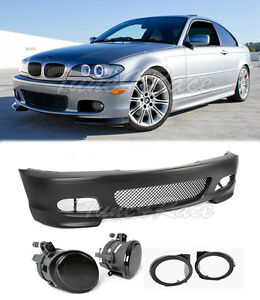 For 00 06 Bmw E46 Coupe 2dr M tech Ii Performance Front Bumper Smoke Fog Light