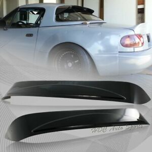 For 1990 1997 Mazda Miata Hard Top Black Acrylic Rear Window Roof Visor Spoiler
