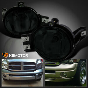 2002 2008 Dodge Ram 1500 2500 3500 Pickup Smoke Bumper Driving Fog Lights Kit