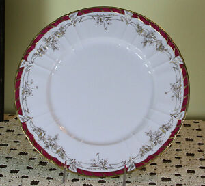 Collector S Cabinet Plate Gold Decoration Purple Red Border And Gold Rim
