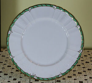 Collector S Cabinet Plate Green Border And Gold Rim