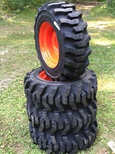 10 16 5 Galaxy Muddy Buddy Skid Steer Tires wheels rims For Bobcat 10x16 5
