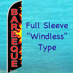 Barbeque Windless Feather Flag Bbq Food Advertising Swooper Flutter Banner Sign