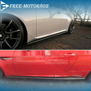 Fit Nissan Subaru Toyota Universal Side Skirt Extension Splitter Bottom Line Abs