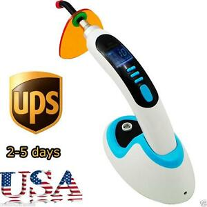 10w Wireless Cordless Led Dental Curing Light Lamp 2000mw Whitening Blue Usa Ce