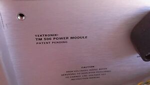Tektronix Tm506 6 slot Power Supply Mainframe W opt 02 Pulse Mod dp 16
