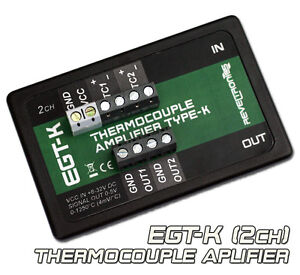 Egt k Thermocouple Amplifier Conditioner K type 0 1250 c 0 5v 2ch Ad8495 Ad597