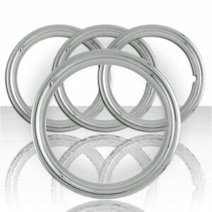 Set Of Four 15 Chrome Steel 1 1 2 Deep Wheel Trim Rings