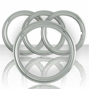 Set Of Four 16 Chrome Abs 1 1 2 Deep Wheel Trim Rings