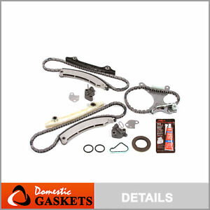 02 12 Dodge Ram Jeep 3 7l Sohc Timing Chain Kit No Gears Timing Cover Gasket Set