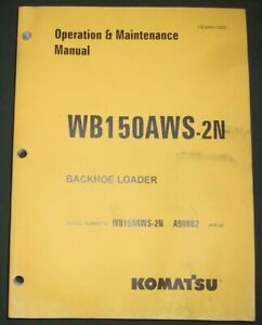 Komatsu Wb150aws 2n Backhoe Loader Operation Maintenance Book Manual