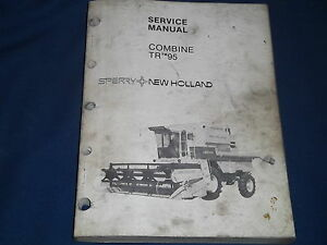 Sperry New Holland Tr 95 Combine Service Shop Workshop Repair Book Manual Set