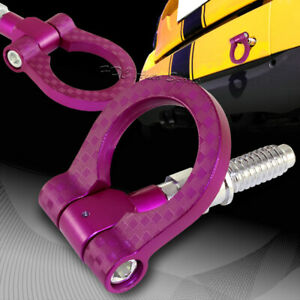 For Bmw Purple Aluminum Front Or Rear Carbon Look Racing Tow Hook Anodized Kit