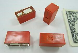 4 Tyco Schrack Dpdt Relays Rte24024 24vdc Coil 8a 250vac 1 1393243 0 2 Form C Co