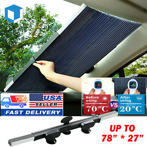 Foldable Front Window Sun Visor Suv Truck Windshield Sun Protector Car Sunshade