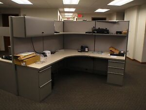 Knoll Cubicles Cross Section 4 Units Pewter