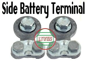 Pair Heavy Duty Universal Replacement Side Post Battery Terminal