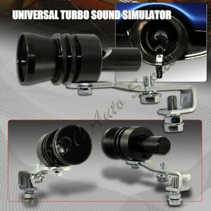 Xl Size Black Turbo Sound Exhaust Blow Off Valve Simulator Whistler Universal 4