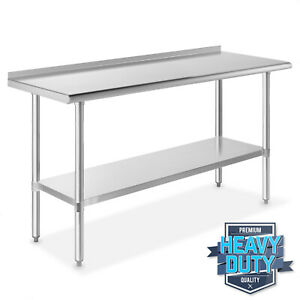 Stainless Steel Kitchen Restaurant Work Prep Table With Backsplash 24 X 60