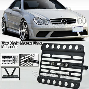 For 03 09 Mercedes benz W209 Amg Clk Tow Hook License Plate Bracket No Pdc
