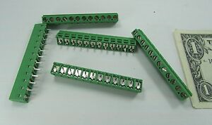 5 Tyco 12 position Wire To Board Connector Terminals Pcb 1 282837 2 200 5 08mm