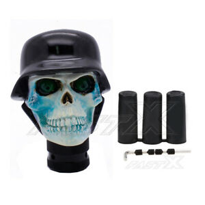 Cool Black Soldier Skull Universal Car Gear Stick Shift Knob Shifter Lever New