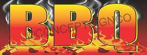 1 5 x4 Bbq Banner Outdoor Sign Barbeque Chicken Pulled Pork Brisket Ribs Smoked
