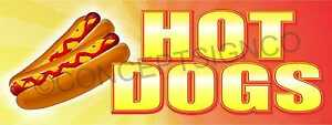 2 x5 Hot Dogs Banner Outdoor Sign Jumbo Beef Franks Chicago Chili Food Cart