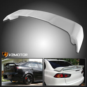 08 15 Mitsubishi Lancer Unpainted Abs Factory Style Rear Spoiler Wing