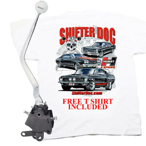 Hurst Comp Plus 4 Speed Shifter Ford Mustang 1965 1973 Top Loader Free T Shirt