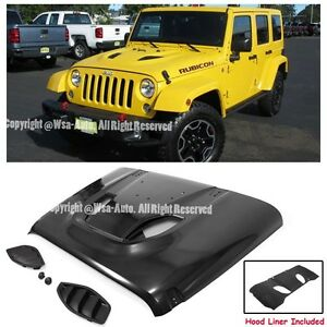 For 07 15 Jeep Wrangler Jk Rubicon 10th Anniversary Hard Rock Style Metal Hood
