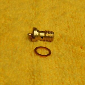 Rochester 2g New Brass Power Valve And Copper Gasket For Tri Power Or Rebuild