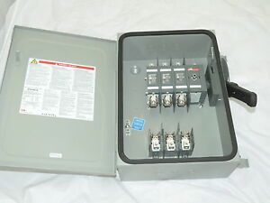 Abb Safety Switch 3p 30a 600v Fusible Heavy Duty N1 New With Fuses 30a
