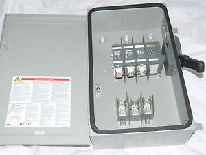 Abb Safety Switch 3p 60a 600v Fusible Heavy Duty N1 Eoh362k New