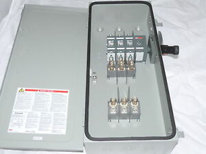 Abb Safety Switch 3p 100a 600v Fusible Heavy Duty N1 New With Fuses 100a