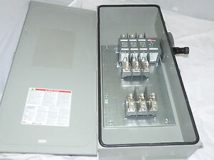 Abb Safety Switch 3p 200a 600v Fusible Heavy Duty N3r New With Fuses 200a