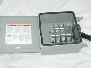 Abb Safety Switch 3p 100a 600v Non Fusible Heavy Duty N1 Eohu363k New