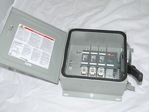 Abb Safety Switch 3p 60a 600v Non Fusible Heavy Duty N3r Eohu362rk New