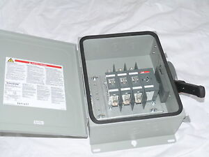 Abb Safety Switch 3p 100a 600v Non Fusible Heavy Duty N3r Eohu363rk New