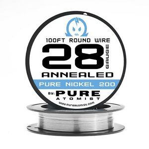 Pure Nickel Ni200 28ga Non Resistance Wire 100ft 28g Annealed Pure Atomist