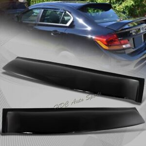 For 2006 2015 Honda Civic Sedan Black Abs Plastic Rear Window Roof Spoiler Visor