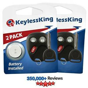 2 New Replacement Keyless Entry Remote Key Fob Key For 15008008 15008009