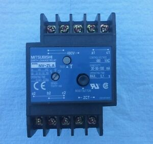 Mitsubishi Nv zla Earth Leakage Relay 480 Vac Control Voltage