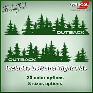 Outback Tree Decal Subaru Sticker Vinyl Door Graphic Mountains Northwest Forest