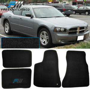 Fit 05 10 Dodge Charger Nylon Floor Mats Carpets Black 4pcs
