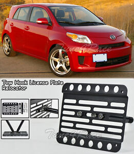 For 08 up Scion Xd Front Bumper Tow Hook License Plate Mount Bracket Relocator