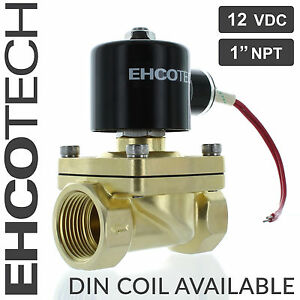 1 Npt 12v 12vdc Electric Solenoid Valve Brass Water Air Gas Nc 1 Inch