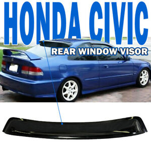 Fit 1996 2000 Civic Ek2 Em1 2 door 2dr Oe Rear Roof Window Visor Spoiler Wing