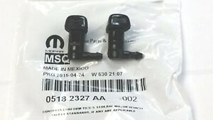 2011 2018 Dodge Charger Windshield Washer Nozzle Pair 5182327 aa Oem